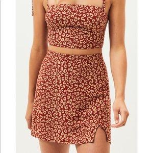 Kendal & Kylie Luxe Leopard Skirt